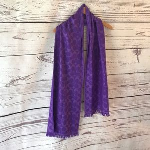 Coach purple and lavender scarf